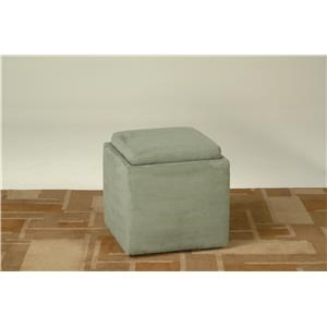 Grey Flip Top Storage Cube