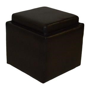 Brown Flip Top Storage Cube