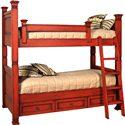 Old Biscayne Designs Custom Design Solid Wood Beds Lisette Bunk Bed - Item Number: Lisette Bunk Bed 2