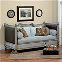 Old Biscayne Designs Custom Design Solid Wood Beds Muriel Daybed with Upholstered Panels