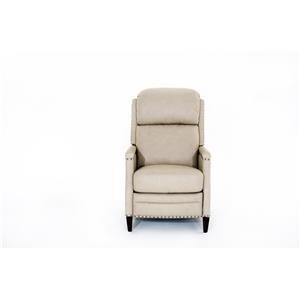 Iris Leather Power Recliner with Nailhead