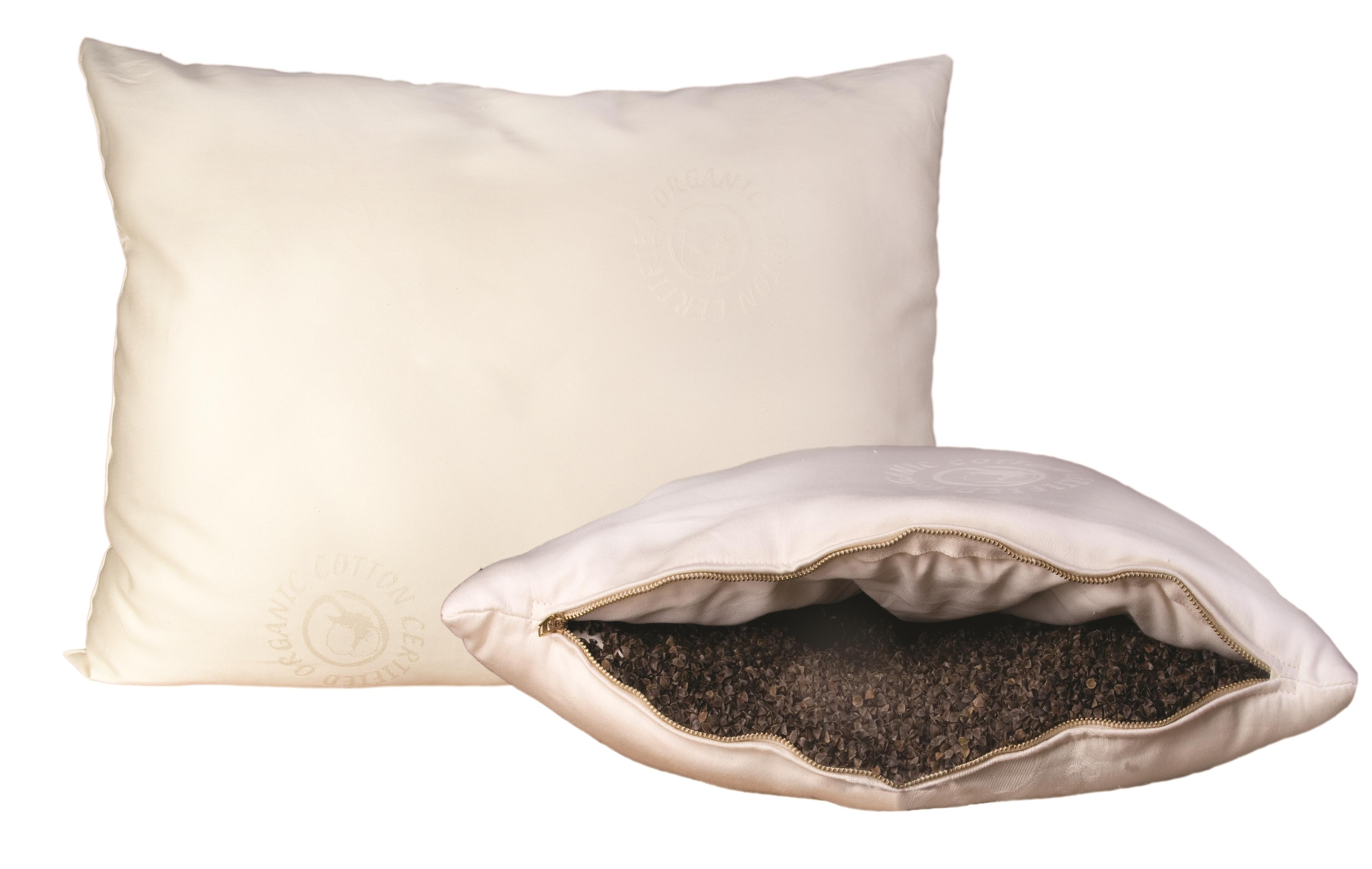 Organic Mattresses, Inc. (OMI) Buckwheat Pillows Queen Wool-Wrapped Buckwheat Pillow - Item Number: 30WBP-0