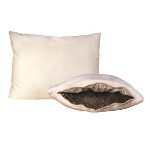 Organic Mattresses, Inc. (OMI) Buckwheat Pillows King Organic Wool-Wrapped Buckwheat Pillow