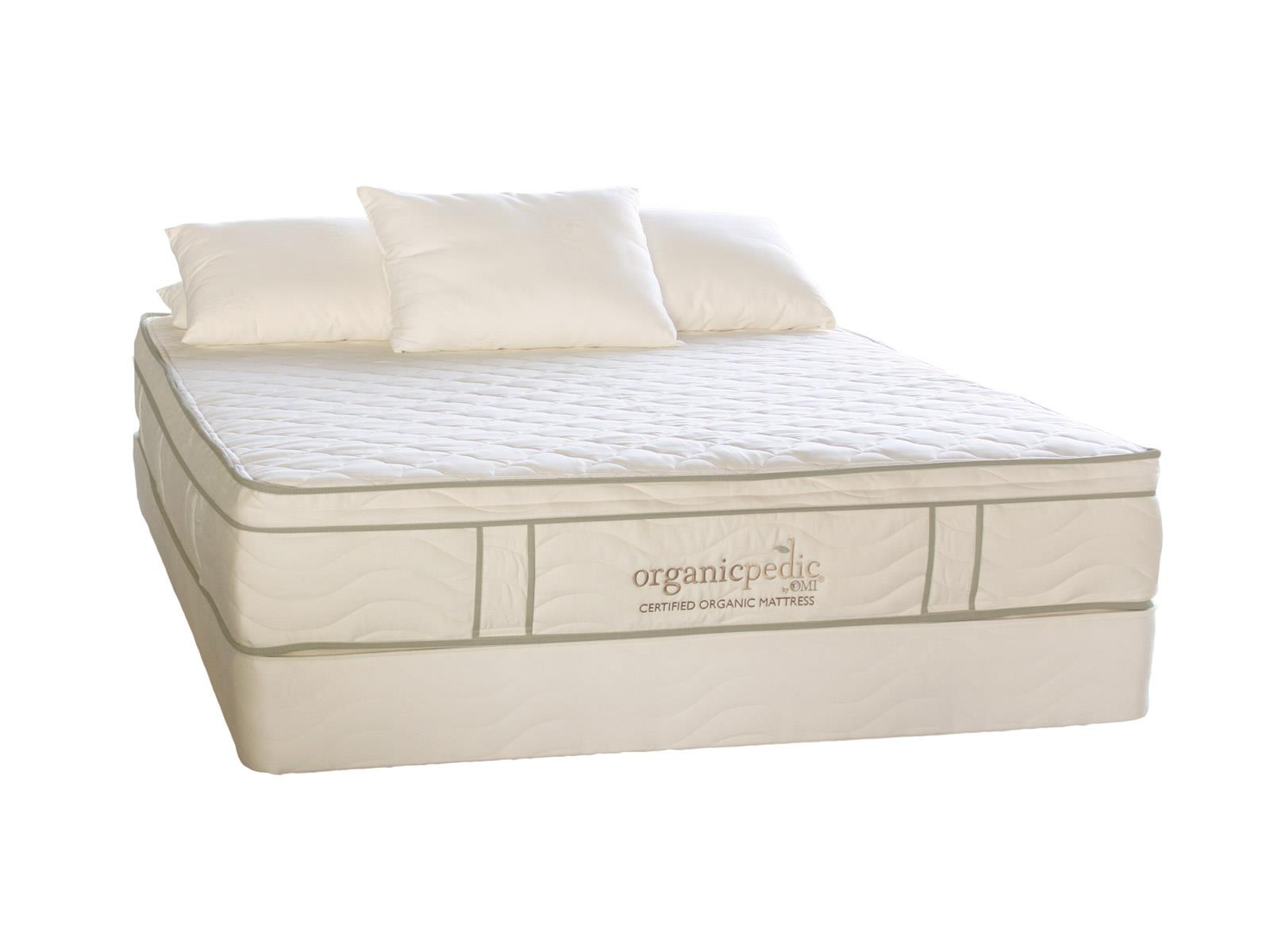 "Organic Mattresses, Inc. (OMI) OrganicPedic Duo King 10"" Customizable Mattress Set - Item Number: 66DDO"