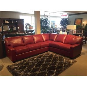 Omnia Leather Albany 2 Piece Sectional