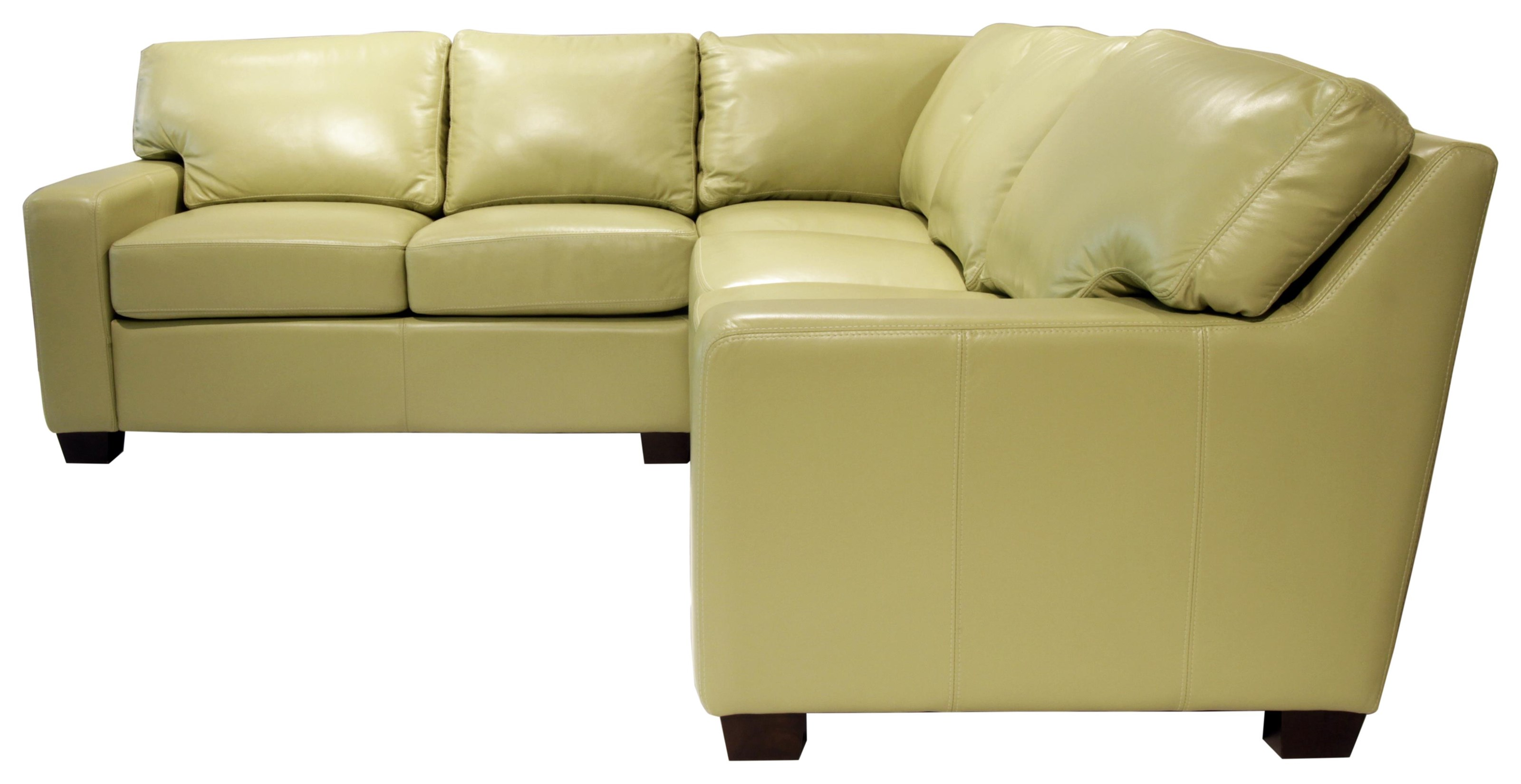 Omnia Leather Albany Sectional - Item Number: 13047+13030