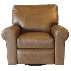Omnia Leather Paramount Power Swivel Recliner