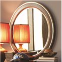 Opus Designs Aura Seven-Drawer One-Door Dresser & Round Mirror Combination - 756-10-271+030 - Mirror