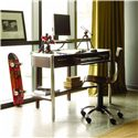 Opus Designs Aura Youth Computer Desk with Drop-Front Keyboard Drawer - 756-10-331 - Shown with Swivel Desk Chair