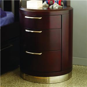 Aura Three-Drawer Round Nightstand by Opus Designs