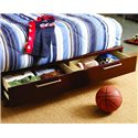Opus Designs Aura Twin-Size Platform Bed with Storage Base - 756-10-950 - Six Drawers on Storage Platform Base - Bed Shown May Not Represent Size Indicated