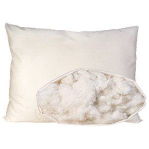 Organic Mattresses, Inc. (OMI) Organic Cotton Pillow Queen Medium Fill Cotton Pillow