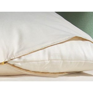 Organic Mattresses, Inc. (OMI) Pillow Barrier Cover Standard Certified Organic Cotton Bed Bug and Dust Mite Pillow Barrier Cover