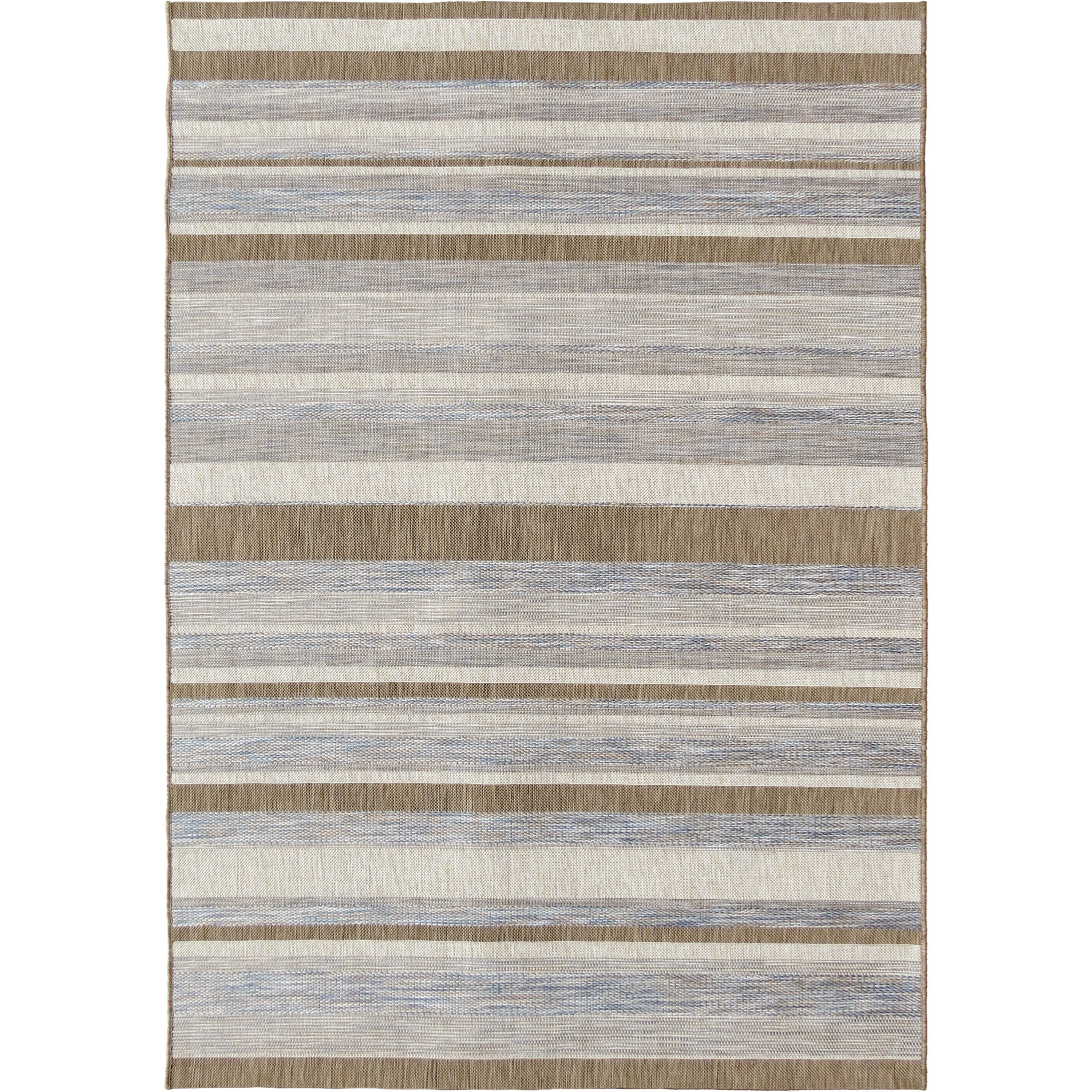 "Casual stripe mink/raw blue 5'1"" x 7'6"" Rug"