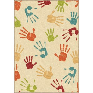 Handprints Ivory 3'10