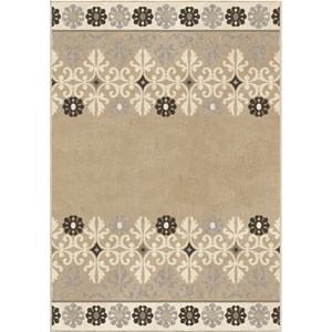 Crewel Border Taupe 7'10