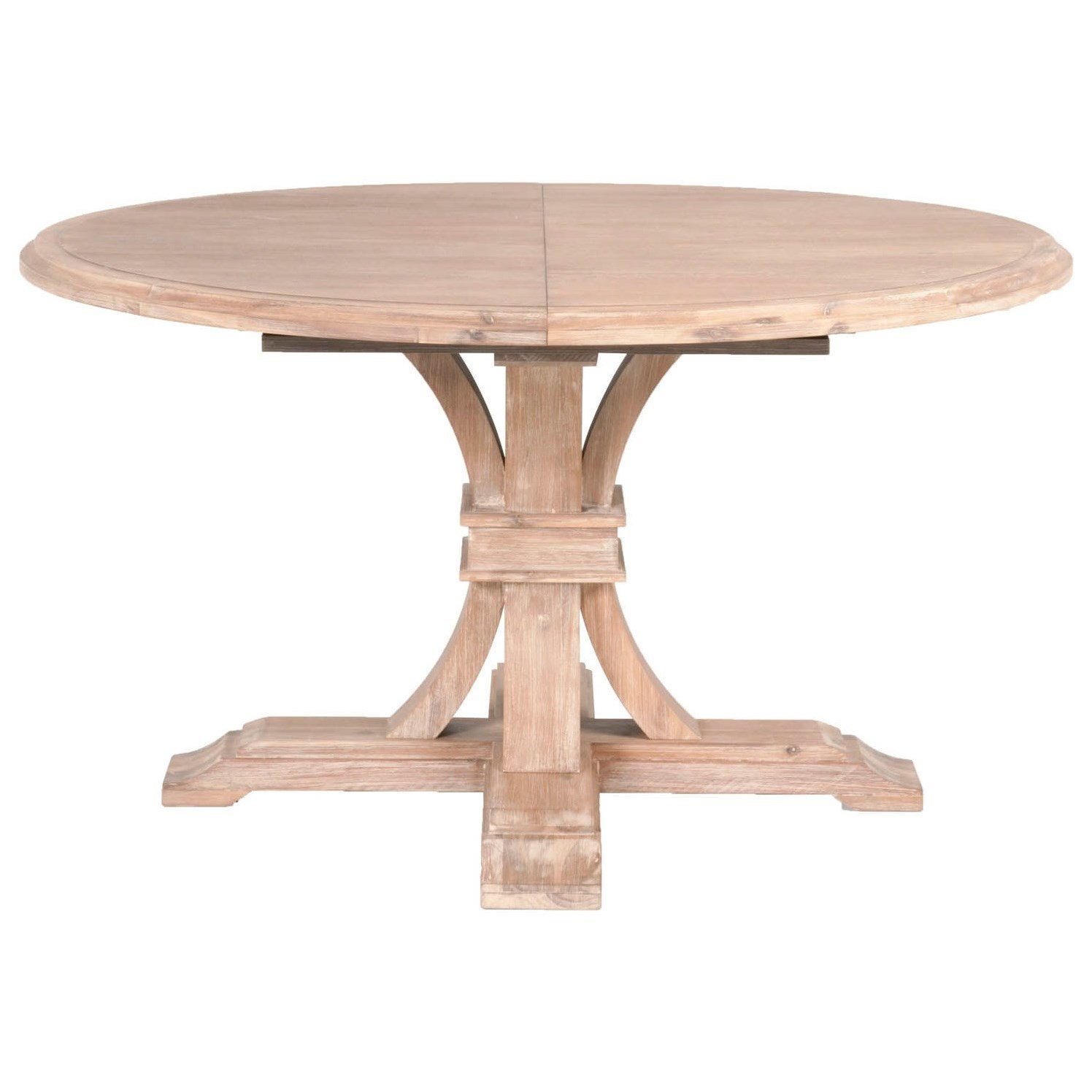 "60 Inch Square Pedestal Table: Orient Express Furniture Traditions 6070.SW Devon 54"" Round Extension Table"