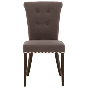 Luxe Upholstered Dining Chair With Nailhead Trim