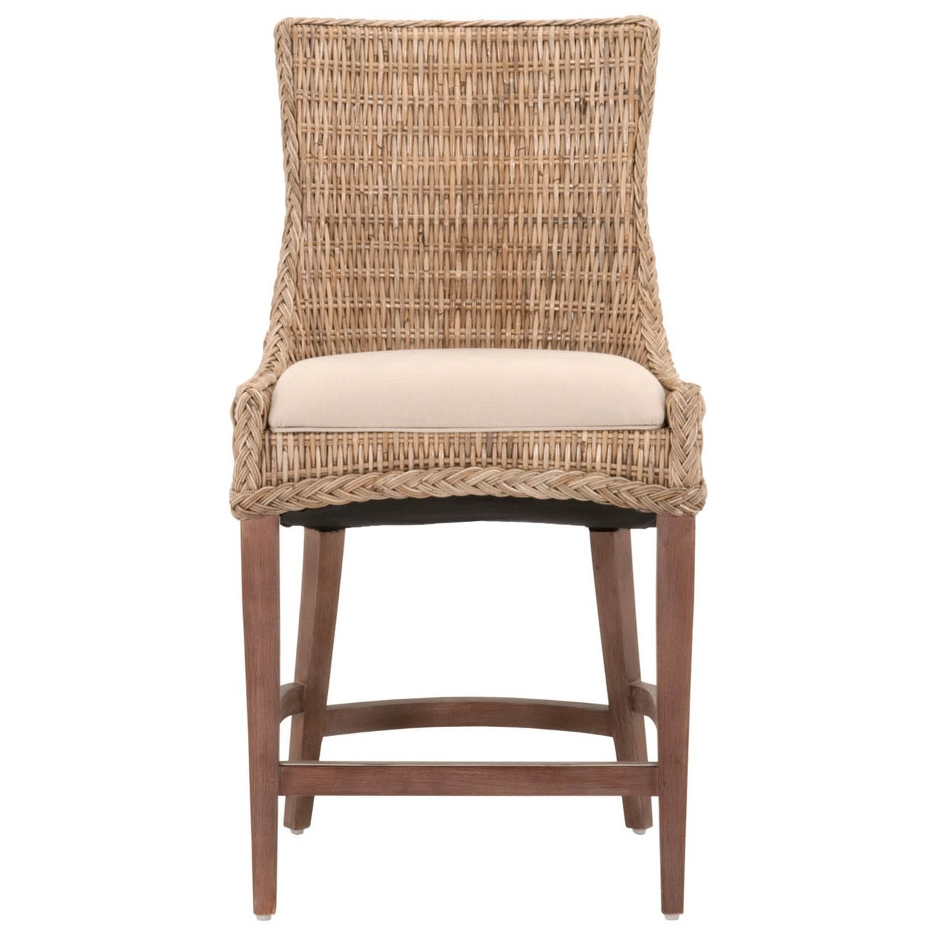 Orient Express Furniture Wicker Greco Counter Stool - Item Number: 6814CS-GKU-LGRY