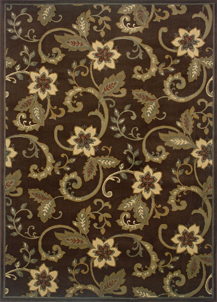 Oriental Weavers Amy Floral 5 x 7.6 Area Rug : Brown - Item Number: 969498736