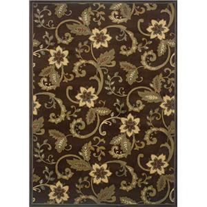 Oriental Weavers Amy Floral 10 x 13 Area Rug : Brown