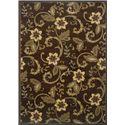 Oriental Weavers Amy Floral 10 x 13 Area Rug : Brown - Item Number: 969498786