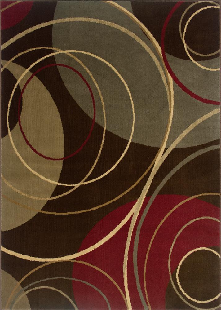 Oriental Weavers Amy 9.10 x 12.9 Area Rug : Multi Brown - Item Number: 969498483