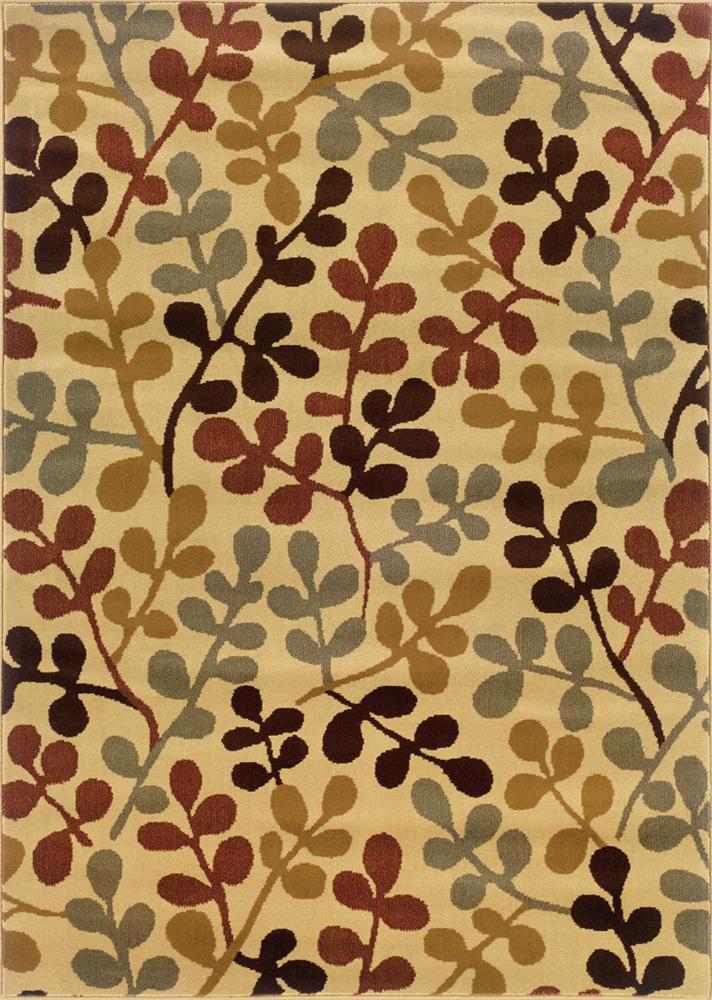 Oriental Weavers Amy 8.2 x 10 Area Rug : Beige - Item Number: 969497342