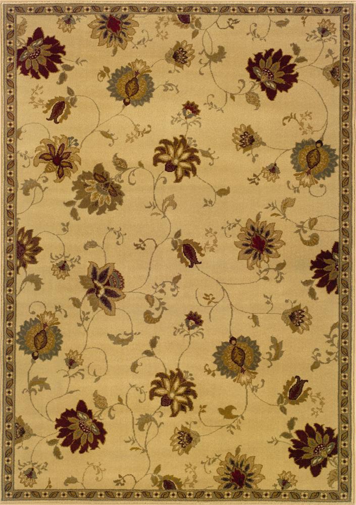 Oriental Weavers Amy Floral 5 x 8 Area Rug : Beige - Item Number: 969498635