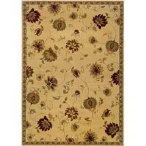 Oriental Weavers Amy Floral 5 x 8 Area Rug : Beige