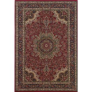 Oriental Weavers Aspire 7.10 x 11.2 Area Rug : Red/Black