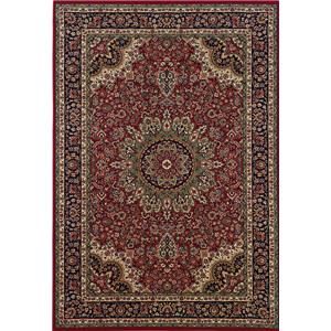 Oriental Weavers Aspire 6.7 x 9.6 Area Rug : Red/Black