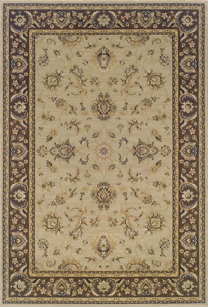 Oriental Weavers Aspire Bordered 10 x 13 Area Rug : Beige - Item Number: 969004286
