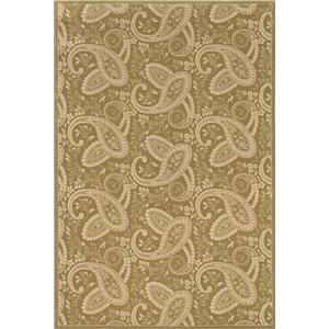 5.3 x 7.9 Area Rug : Gold
