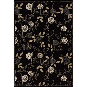 Oriental Weavers Aspire 5.3 x 7.9 Area Rug : Black