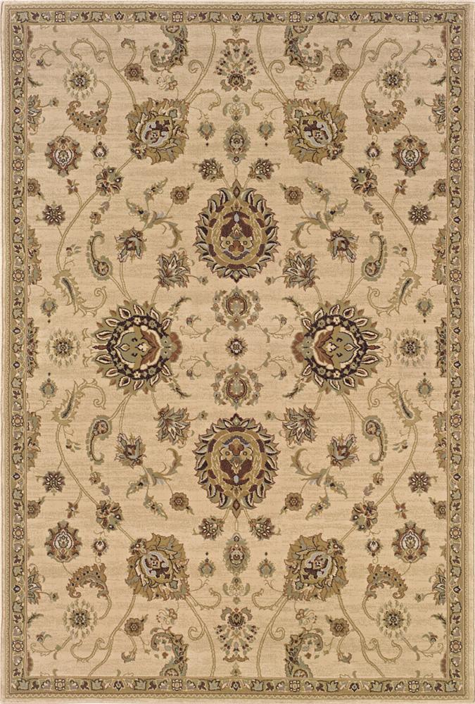 Oriental Weavers Aspire  5.3 x 7.9 Area Rug : Tan - Item Number: 969004630