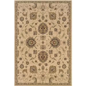 Oriental Weavers Aspire  5.3 x 7.9 Area Rug : Tan