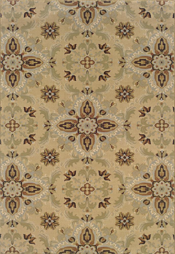 Oriental Weavers Aspire 10 x 13 Area Rug : Beige - Item Number: 969002686
