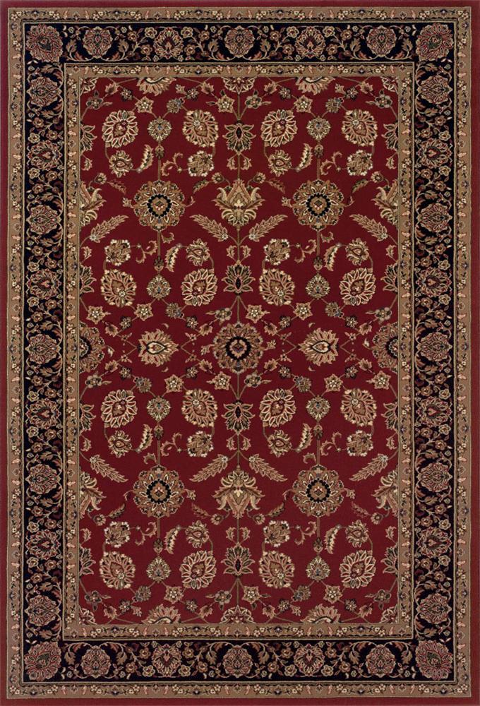 Oriental Weavers Aspire Bordered 8 x 11 Area Rug : Red - Item Number: 969009349