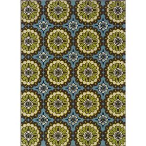 Oriental Weavers Casper 6.7 x 9.6 Area Rug : Blue/Lime