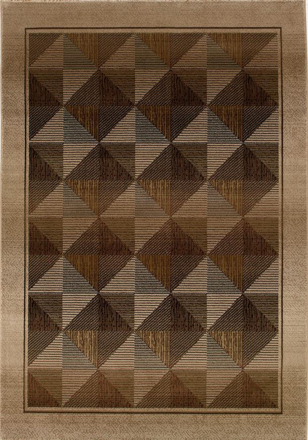 Oriental Weavers Glory Diamond 5.3 x 7.6 Area Rug : Brown - Item Number: 969755338
