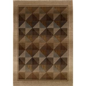 Oriental Weavers Glory Diamond 5.3 x 7.6 Area Rug : Brown