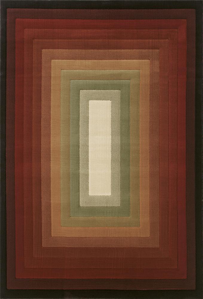 Oriental Weavers Grandeur 8 x 11 Area Rug : Brown/Ivory - Item Number: 969215055