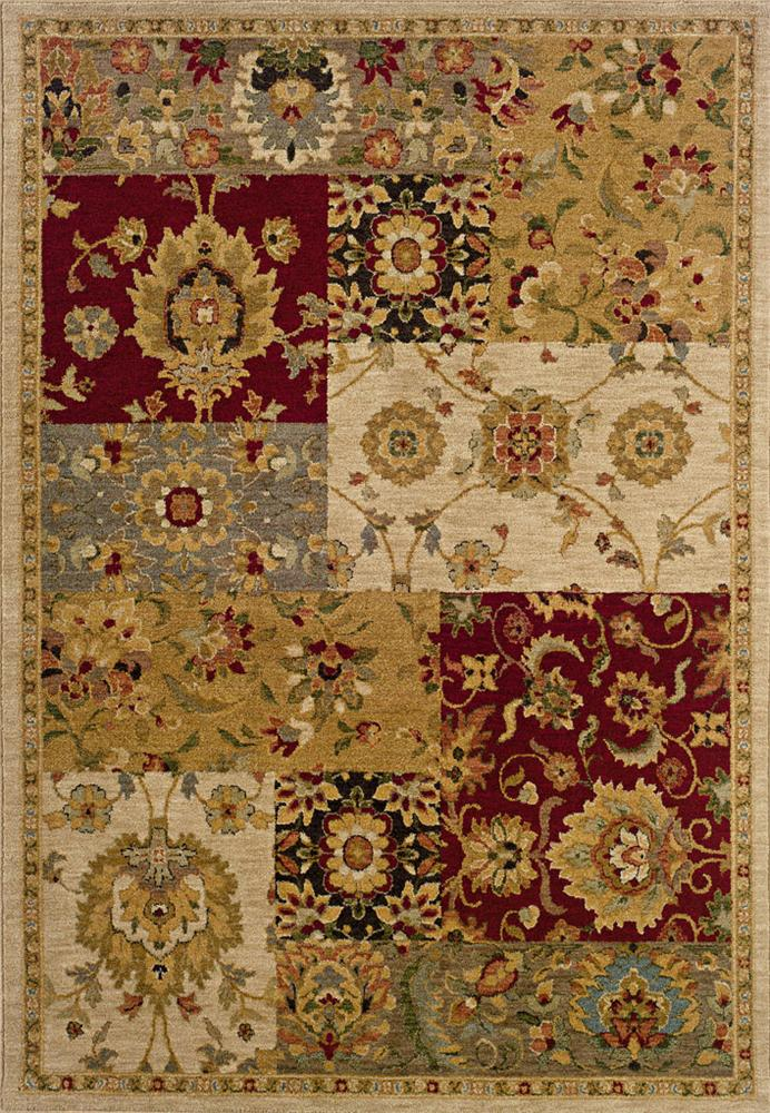 Oriental Weavers Inkus  8 x 11 Area Rug : Gold - Item Number: 969757142