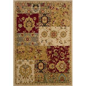 Oriental Weavers Inkus  8 x 11 Area Rug : Gold