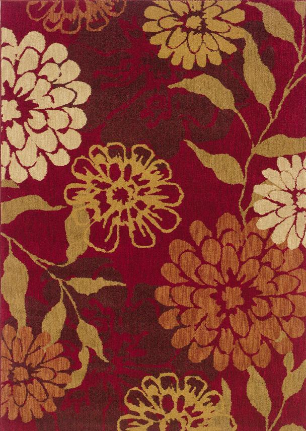 Oriental Weavers Inkus 10 x 13 Area Rug : Red - Item Number: 969757281