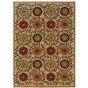 Oriental Weavers Inkus Floral 5.3 x 7.6 Area Rug : Beige - Item Number: 969759033