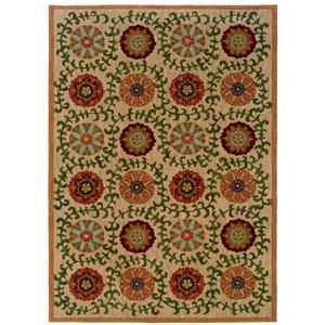 Oriental Weavers Inkus Floral 10 x 13 Area Rug : Beige