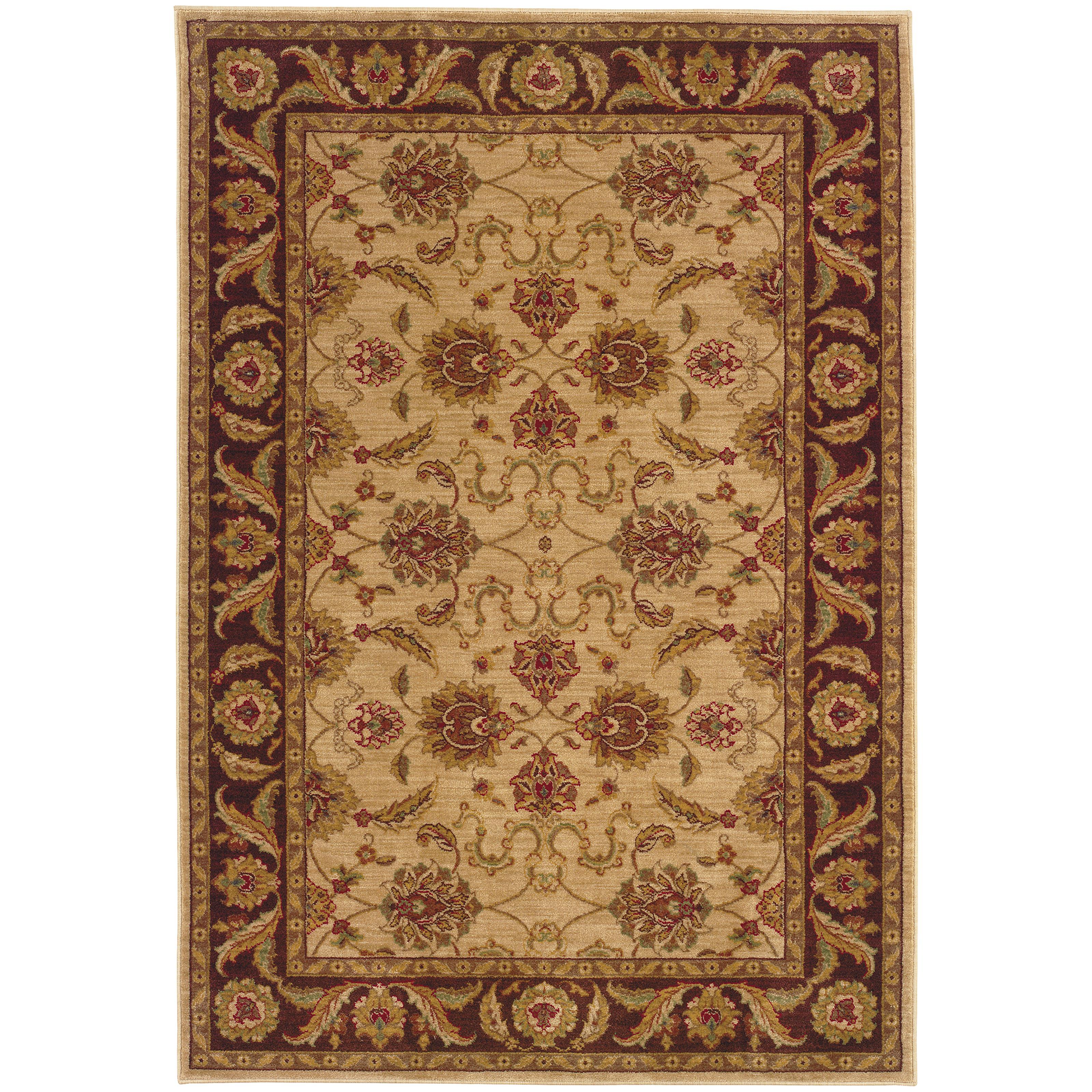 """Oriental Weavers Allure 3'10"""" X  5' 5"""" Rug - Item Number: AL08F14"""