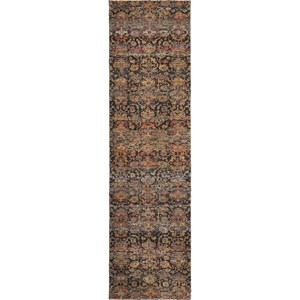 "2' 3"" X  8' 0"" Casual Multi/ Blue Runner Rug"